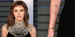 Emma Watson met 'Times Up'-tattoo tijdens de Oscars
