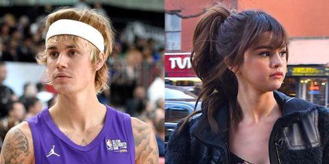 Justin Bieber en Selena Gomez on a break
