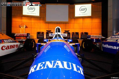 Automotive design, Mode of transport, Blue, Automotive tire, Open-wheel car, Formula one tyres, Formula one car, Logo, Race car, Formula one,