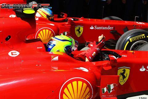 Automotive design, Automotive tire, Open-wheel car, Red, Car, Formula one, Race car, Logo, Formula racing, Formula one car,