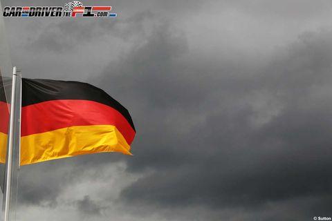 Flag, Nature, Sky, Daytime, Natural environment, Atmosphere, Photograph, Red, Atmospheric phenomenon, White,