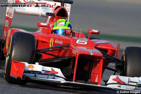 Automotive tire, Automotive design, Open-wheel car, Formula one, Automotive exterior, Red, Car, Motorsport, Formula one car, Formula one tyres,