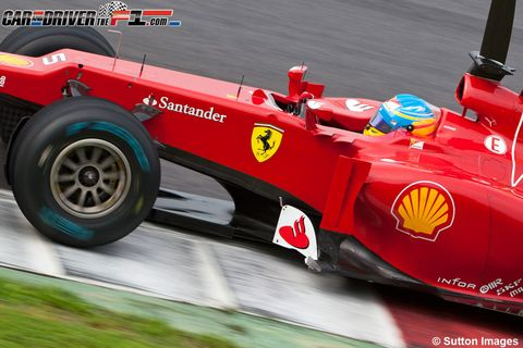 Tire, Wheel, Automotive tire, Automotive design, Open-wheel car, Automotive wheel system, Formula one, Car, Red, Formula racing,