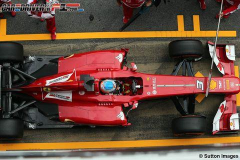 Automotive design, Open-wheel car, Automotive tire, Red, Formula one tyres, Formula one, Formula one car, Motorsport, Formula racing, Race car,
