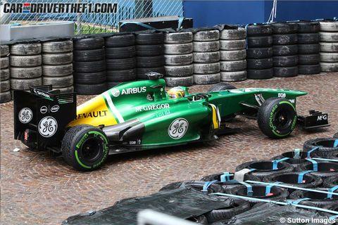 Tire, Automotive tire, Automotive design, Open-wheel car, Green, Formula one tyres, Automotive wheel system, Formula one, Motorsport, Formula one car,