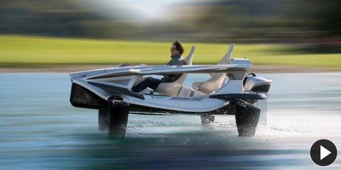 Automotive design, Watercraft, Boat, Reflection, Speedboat,