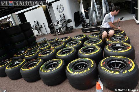 Automotive tire, Rim, Automotive wheel system, Synthetic rubber, Tread, Formula one tyres, Auto part, Carbon, Spoke, Gas,
