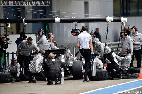 Automotive tire, Automotive design, Automotive wheel system, Auto part, Synthetic rubber, Race car, Crew, Formula one tyres, Pit stop, Tread,