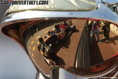 Reflection, Mirror, Automotive mirror, Rear-view mirror, Brass instrument, Gloss,