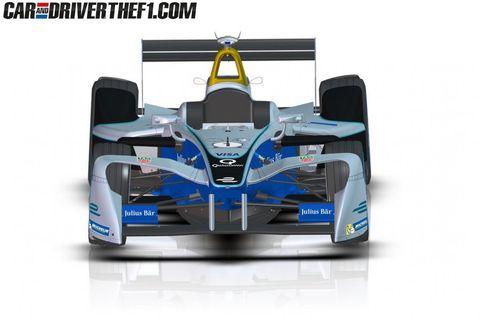 Automotive design, Automotive tire, Automotive exterior, Open-wheel car, Car, Race car, Motorsport, Auto part, Logo, Racing,