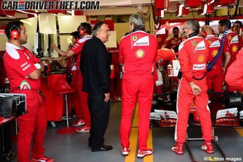 Red, Logo, Carmine, Uniform, Formula one, Race car, Race track, Motorsport, Sports jersey, Open-wheel car,