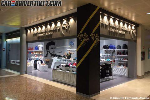 Floor, Logo, Retail, Outlet store, Advertising, Display case, Shelf,