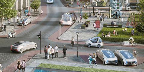 Land vehicle, Vehicle, Car, Mode of transport, Pedestrian, City car, Urban design, Mid-size car, Street, Traffic,