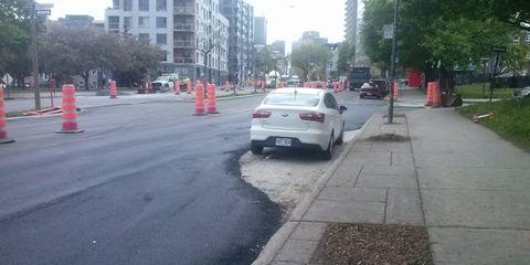Vehicle, Lane, Road, Car, Asphalt, Mid-size car, Sidewalk, Infrastructure, Street, Residential area,