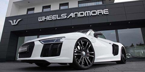 Land vehicle, Vehicle, Car, Sports car, Alloy wheel, Automotive design, Audi, Wheel, White, Audi r8,