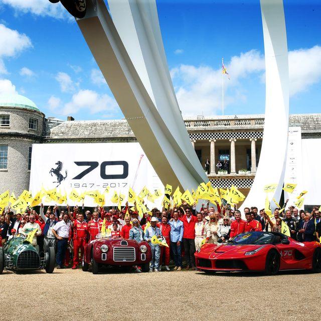 Red, Vehicle, Race car, Car, Team, Crowd, Sports car, Wheel, Racing, Tourism,