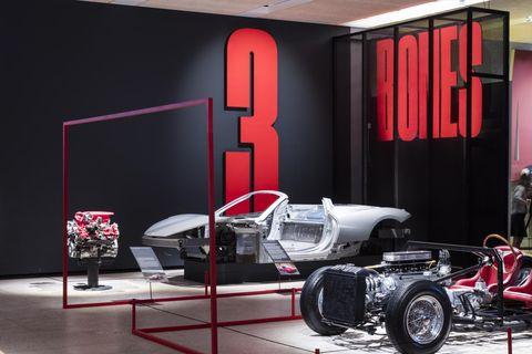 Auto show, Automotive design, Vehicle, Car, Room, Design, Interior design, Material property, Classic, Race car,