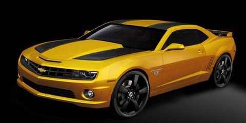 Tire, Wheel, Motor vehicle, Automotive design, Yellow, Vehicle, Automotive tire, Hood, Chevrolet camaro, Headlamp,