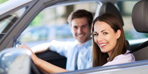 Driving, Vehicle door, Vehicle, Luxury vehicle, Family car, Car, Smile, Automotive design, Auto part, Fun,