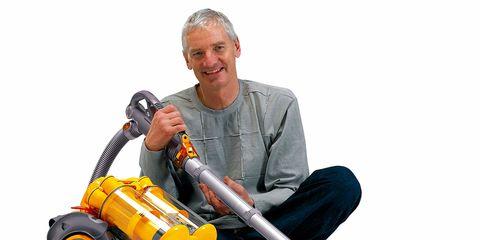Vacuum cleaner, Machine, Denim, Tool, Power tool, Chainsaw, Wrinkle, Outdoor power equipment, Fishing reel, Tradesman,