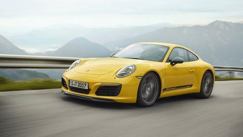 Land vehicle, Vehicle, Car, Yellow, Sports car, Supercar, Automotive design, Performance car, Luxury vehicle, Porsche,