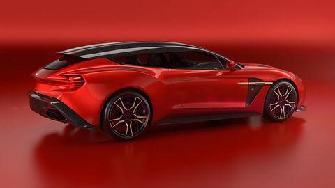 Land vehicle, Vehicle, Car, Sports car, Automotive design, Supercar, Red, Performance car, Concept car, Aston martin vanquish,
