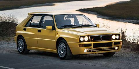 Land vehicle, Vehicle, Car, Lancia delta, Automotive design, Sedan, Coupé, Automotive wheel system, Classic car, Lancia,
