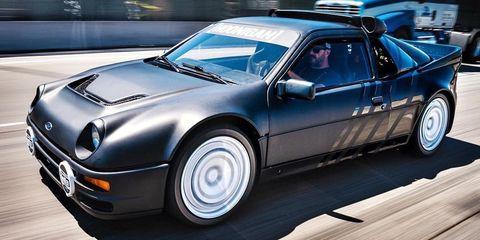 Land vehicle, Vehicle, Car, Ford rs200, Sports car, Coupé, Group b, Race car, Classic car, Personal luxury car,