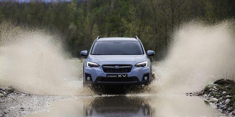 Land vehicle, Vehicle, Car, Sport utility vehicle, Mid-size car, Automotive design, Subaru, Subaru, Crossover suv, Compact sport utility vehicle,