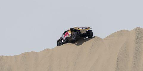 Sand, Natural environment, Rally raid, Off-road racing, Vehicle, Desert racing, Off-roading, Automotive design, Desert, Racing,