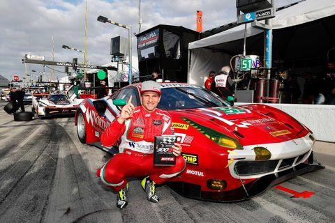 Land vehicle, Vehicle, Race car, Race track, Car, Sports car racing, Pit stop, Red, Endurance racing (motorsport), Motorsport,