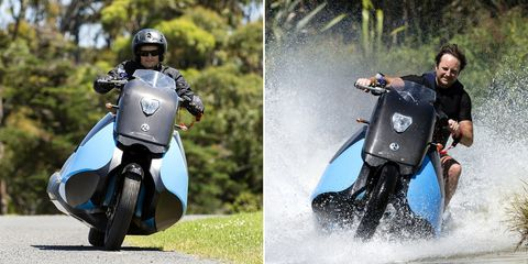 Scooter, Motor vehicle, Vehicle, Helmet, Personal protective equipment, Automotive design, Moped, Recreation, Vespa, Motorcycle accessories,