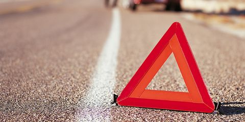 Triangle, Red, Traffic sign, Line, Triangle, Font, Sign, Road, Road surface, Asphalt,