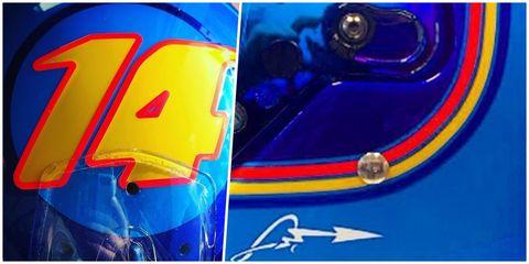 Blue, Cobalt blue, Electric blue, Yellow, Helmet, Automotive lighting, Personal protective equipment, Automotive design, Art, Graphic design,