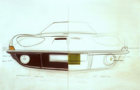 Vehicle, Car, Automotive design, Drawing, Sketch, Sports car, Classic car, Coupé, Opel gt, Concept car,