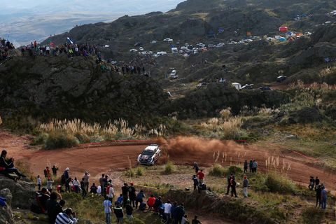 Crowd, World rally championship, Mountain, Geological phenomenon, Hill, Freeride, Vehicle, Mountain bike, Tree, Racing,