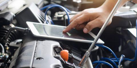 Technology, Vehicle, Auto part, Hand, Engine, Hood, Car,