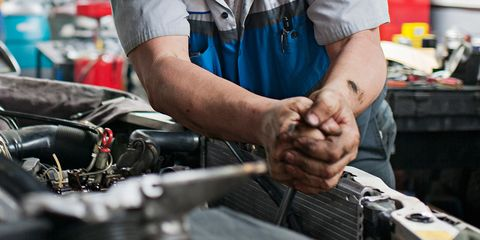 Auto mechanic, Mechanic, Hand, Auto part, Muscle, Vehicle,