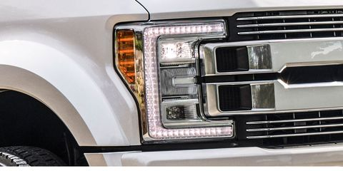 Land vehicle, Vehicle, Car, Automotive lighting, Bumper, Automotive exterior, Automotive tire, Headlamp, Ford super duty, Auto part,