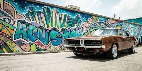 Motor vehicle, Vehicle, Car, Muscle car, Automotive design, Graffiti, Sedan, Art, Classic car, Custom car,
