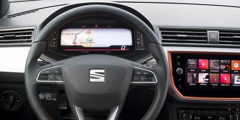 Land vehicle, Vehicle, Car, Steering wheel, Motor vehicle, Automotive design, Mid-size car, Center console, Sport utility vehicle, Technology,