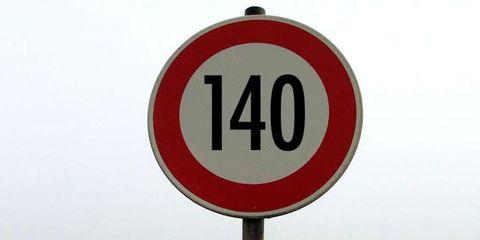 Sign, Signage, Traffic sign, Circle, Number, Symbol, Street sign, Trademark,