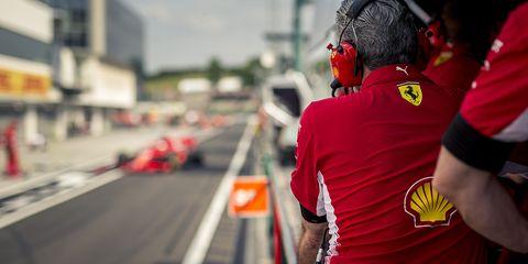 Red, Vehicle, Formula one, Road, Street, Asphalt, Team, Car,
