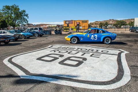 Land vehicle, Vehicle, Car, Regularity rally, Blue, Asphalt, Race track, Sports car, Performance car, Coupé,