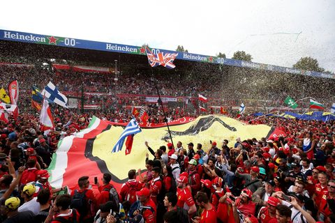 Crowd, Fan, Product, Sport venue, People, Stadium, Red, Arena, Audience, Cheering,