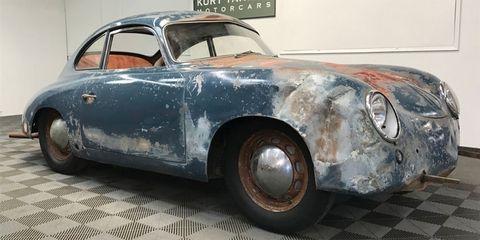 Land vehicle, Vehicle, Car, Classic car, Coupé, Sedan, Porsche 356, Classic, Antique car, Sports car,