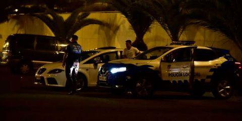 Vehicle, Car, Police car, Police, Night, Sports sedan, Mid-size car, Traffic, Family car, Law enforcement,