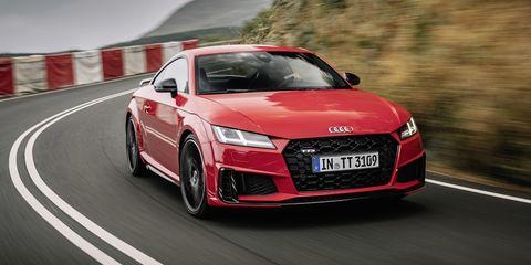 Land vehicle, Vehicle, Car, Automotive design, Audi, Sports car, Performance car, Audi tt, Coupé, Personal luxury car,