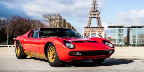 Land vehicle, Vehicle, Car, Supercar, Lamborghini miura, Sports car, Coupé, Automotive design, Lamborghini, Classic car,