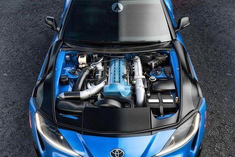 Land vehicle, Vehicle, Car, Hood, Blue, Sports car, Performance car, Automotive design, Electric blue, Personal luxury car,